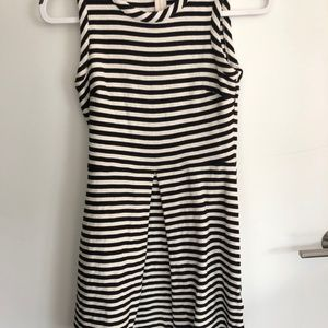 Black and White striped Madewell dress Size S